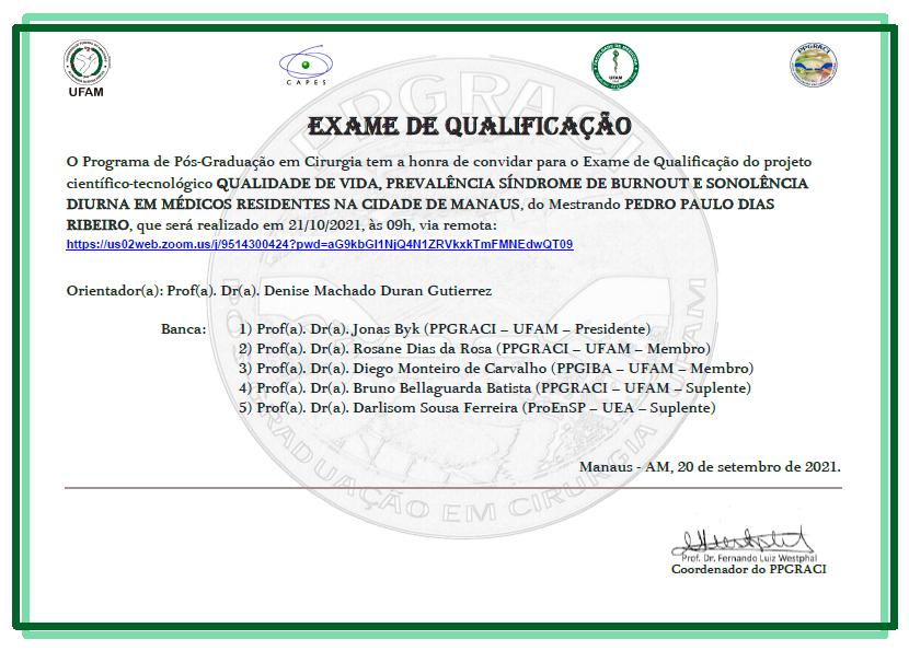 Exame de Qualificação PPGRACI