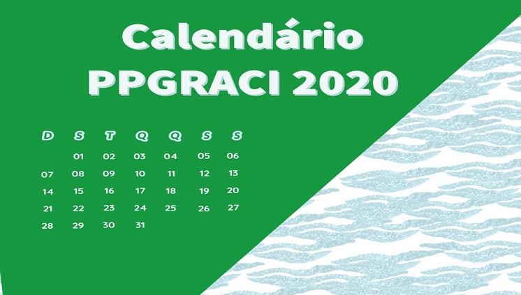Calendário PPGRACI 2020