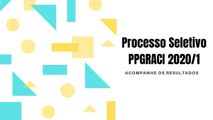 Confira os resultados do Processo Seletivo PPGRACI 2020/1