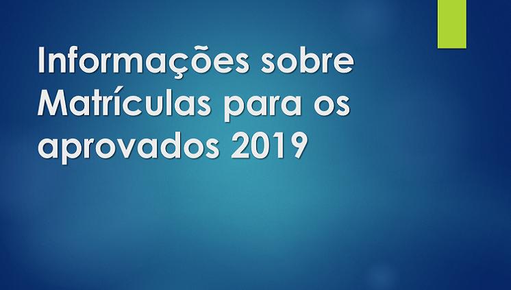Matrículas aprovados 2019